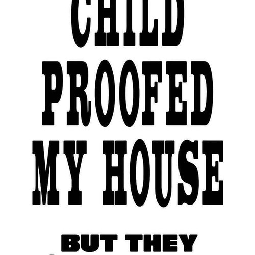 Child Proofed House Funny Vinyl Sticker