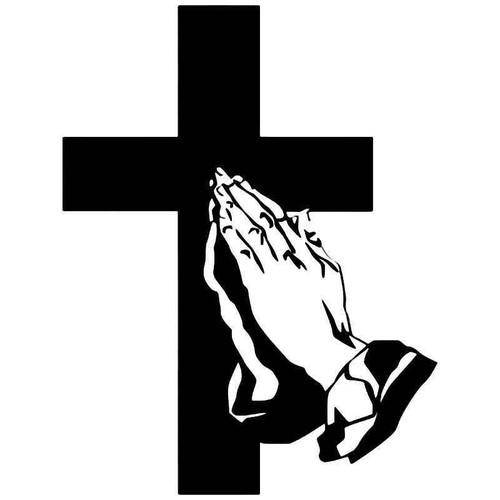 Christian Cross 4 Vinyl Sticker