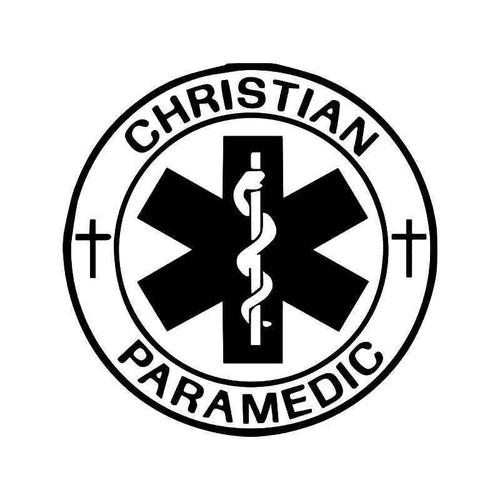 Christian Paramedic Vinyl Sticker
