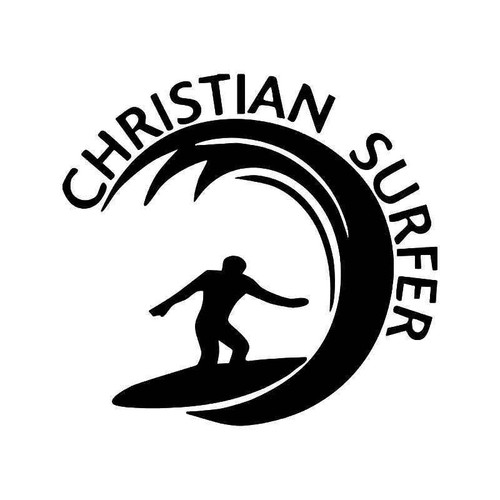 Christian Surfer Vinyl Sticker