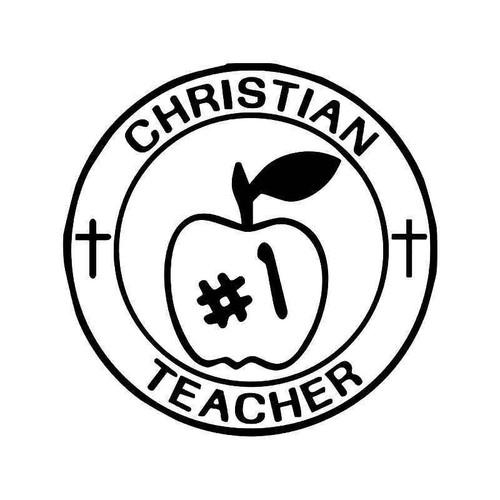 Christian Teacher Vinyl Sticker