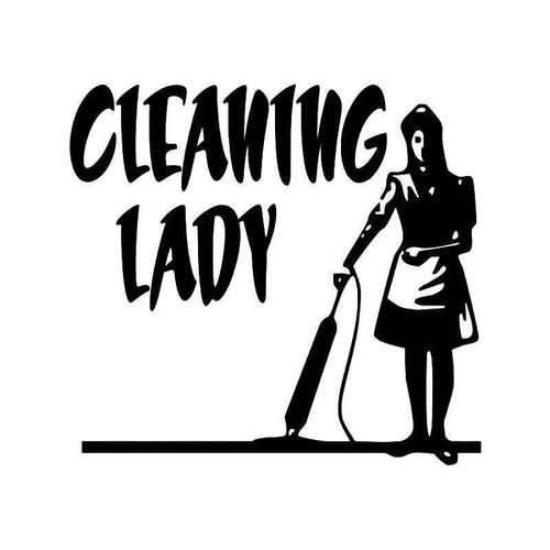 Cleaning Lady Vinyl Sticker