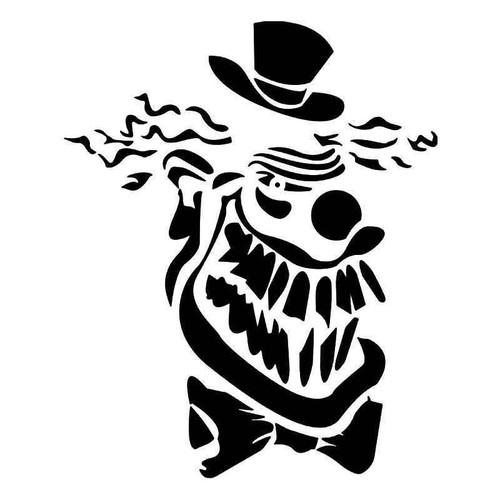 Clown Skull Vinyl Sticker