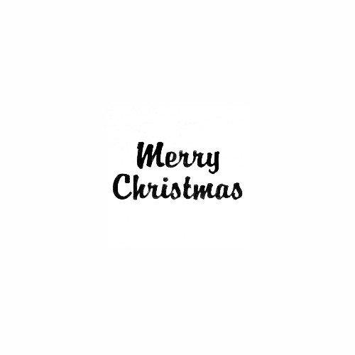 Merry Christmas - Brandy Script Text Size option will determine the size from the longest side Industry standard high performance calendared vinyl film Cut from Oracle 651 2.5 mil Outdoor durability is 7 years Glossy surface finish