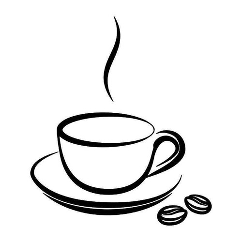 Coffee Bean Cup 1 Vinyl Sticker