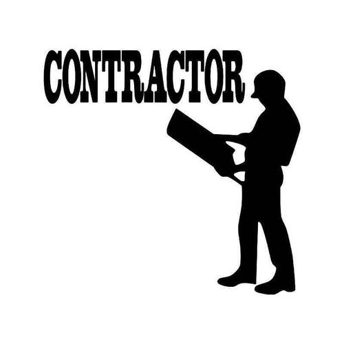 Contractor Building Vinyl Sticker