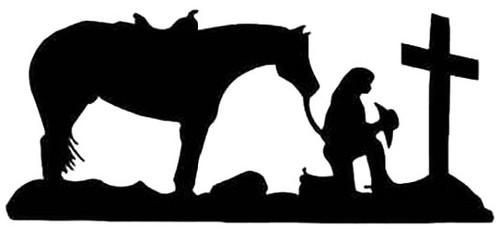 Cowgirl Horse Praying