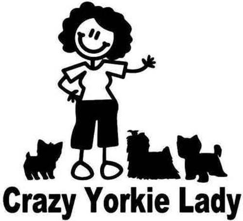 Crazy Yorkie Lady Dog