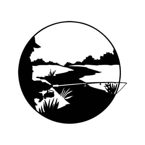 Creek Fishing Vinyl Sticker