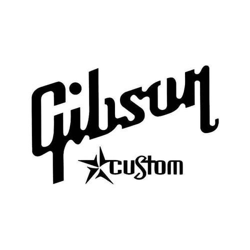 Custom Gibson Logo Vinyl Sticker