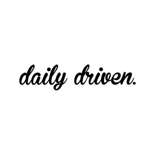 Daily Driven Jdm Japanese 3 Vinyl Sticker