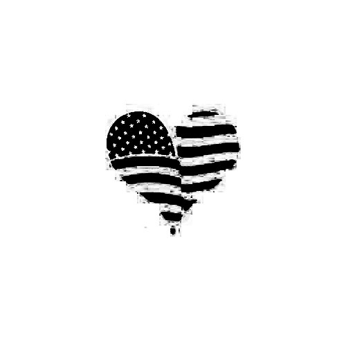 American Flag Heart Decal Size option will determine the size from the longest side Industry standard high performance calendared vinyl film Cut from Oracle 651 2.5 mil Outdoor durability is 7 years Glossy surface finish