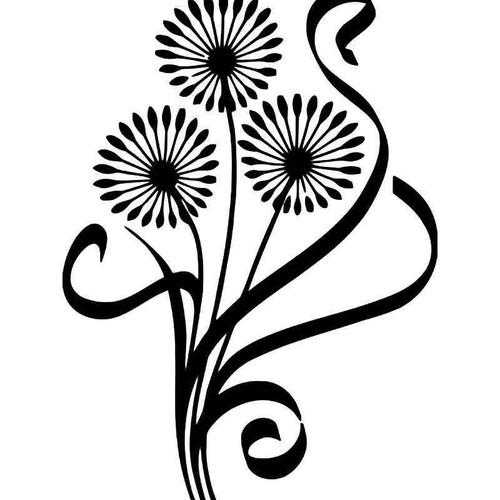 Dandelion Flower Vinyl Sticker