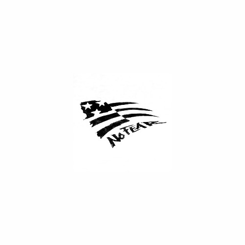 American Flag No Fear Vinyl Decal