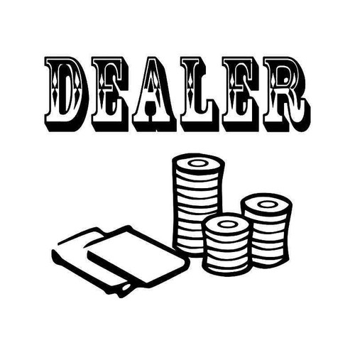 Dealer Casino Vinyl Sticker