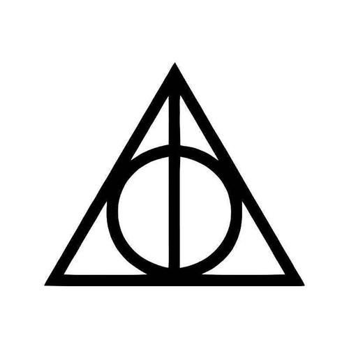 Deathly Hallows Magic Symbol Harry Potter Vinyl Sticker