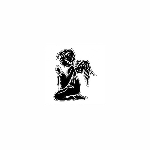 Girl Angel Kneeling In Prayer Decal Size option will determine the size from the longest side Industry standard high performance calendared vinyl film Cut from Oracle 651 2.5 mil Outdoor durability is 7 years Glossy surface finish