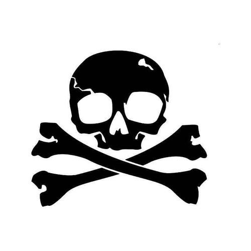 Death Skull Crossbones 1 Vinyl Sticker