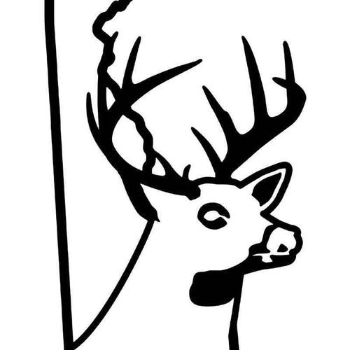 Delaware State Deer Buck Hunting Vinyl Sticker