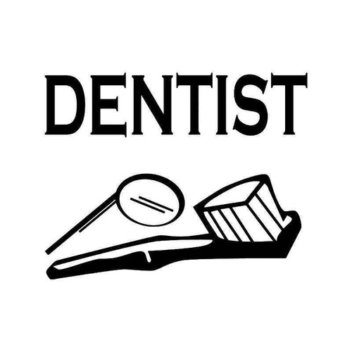 Dentist Teeth Vinyl Sticker