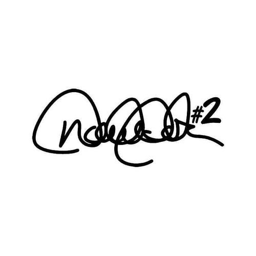 Derek Jeter Signature Vinyl Sticker