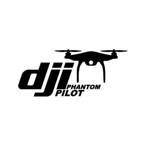 Dji Phantom Pilot Drone Vinyl Sticker