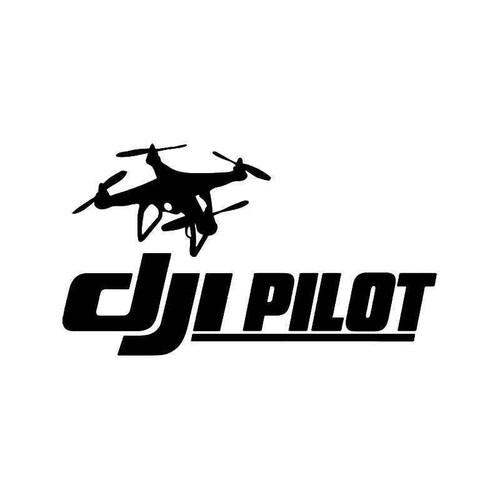 Dji Pilot Drone Plane Vinyl Sticker