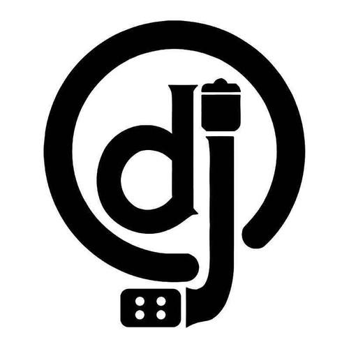 Dj Turntable Ministry Vinyl Sticker