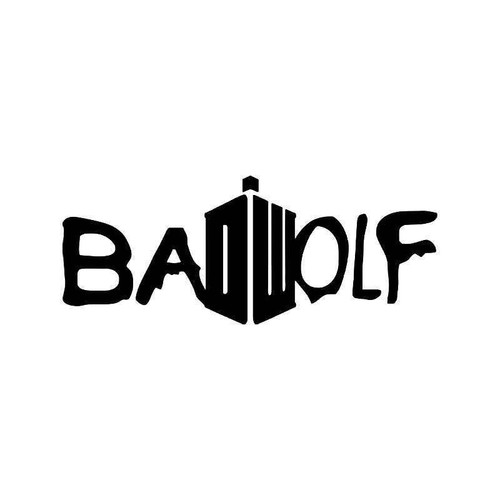 Doctor Who Bad Wolf Vinyl Sticker