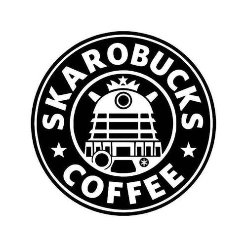Doctor Who Skarobucks Coffee Vinyl Sticker