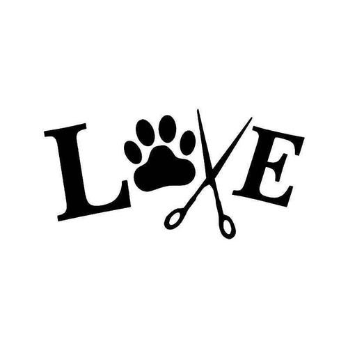 Dog Groomer Love Vinyl Sticker