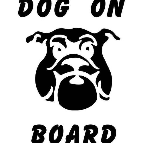 Dog On Board Vinyl Sticker