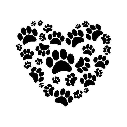 Dog Paw Prints He 1 Vinyl Sticker