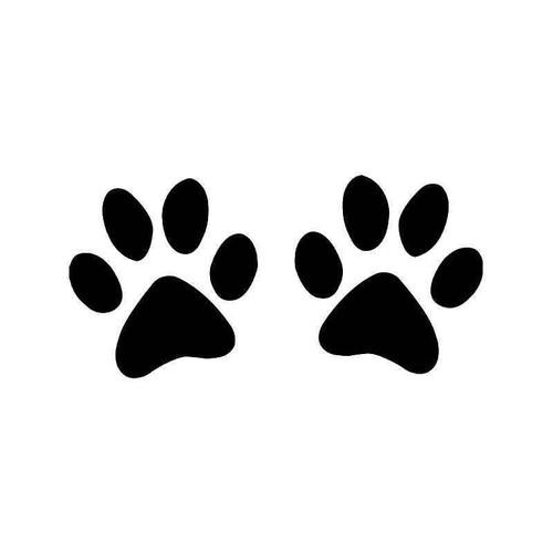Dog Paws Print Vinyl Sticker