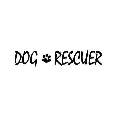 Dog Rescuer Vinyl Sticker