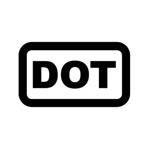 Dot Depment Of Transportation Vinyl Sticker