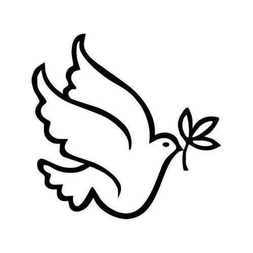 Dove Bird Olive Peace 3 Vinyl Sticker