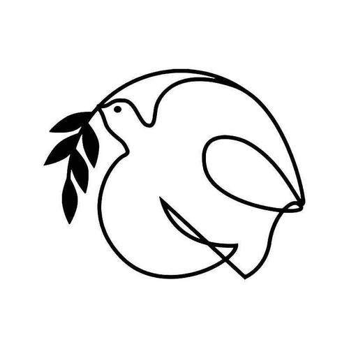 Dove Bird Olive Peace 4 Vinyl Sticker