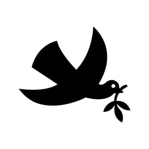 Dove Bird Peace Olive Leaf Vinyl Sticker