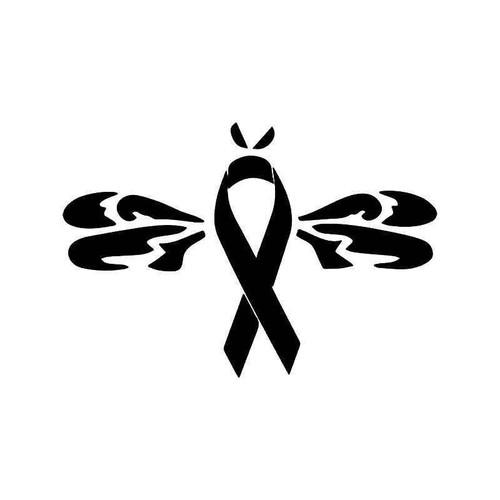 Dragonfly Breast Cancer Ribbon Vinyl Sticker