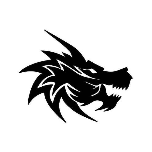 Dragon Head Vinyl Sticker
