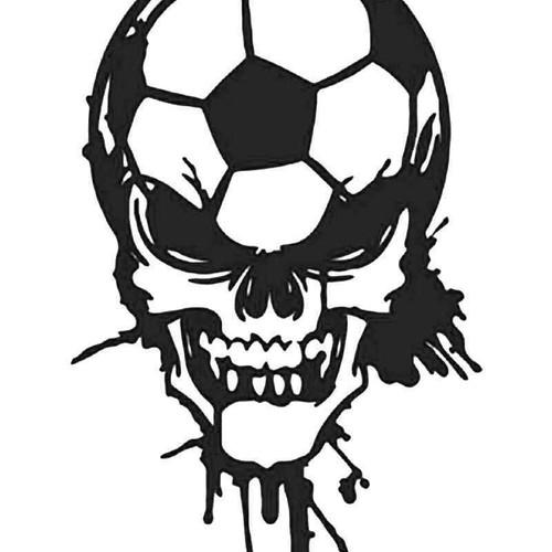 Dripping Blood Soccer Futbol Skull Vinyl Sticker