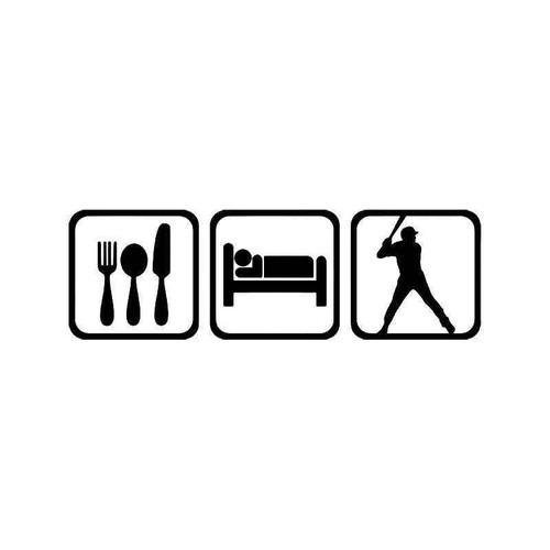 Eat Sleep Baseball Sport Vinyl Sticker