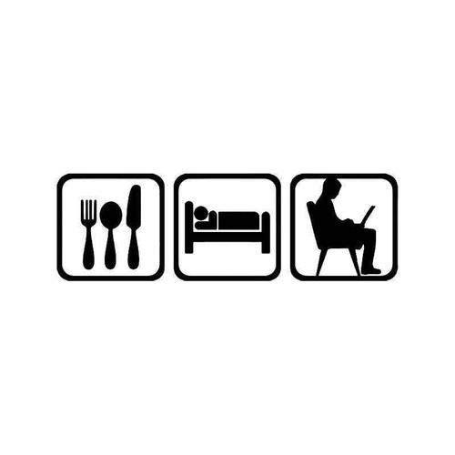 Eat Sleep Blogging Blog Vinyl Sticker