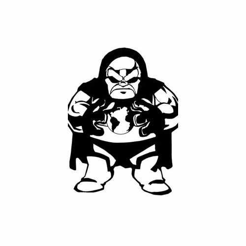 Super Hero Darkseid  Vinyl Decal Sticker  Size option will determine the size from the longest side Industry standard high performance calendared vinyl film Cut from Oracle 651 2.5 mil Outdoor durability is 7 years Glossy surface finish