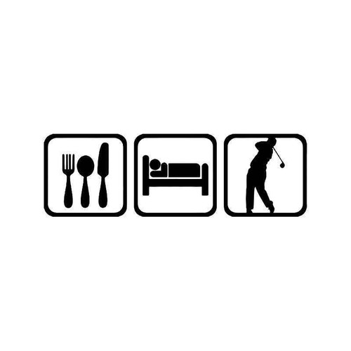 Eat Sleep Golf Men Sport 1 Vinyl Sticker