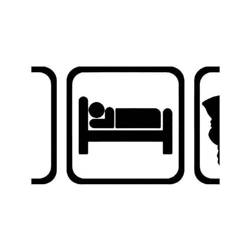 Eat Sleep Golf Men Sport 2 Vinyl Sticker