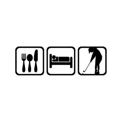 Eat Sleep Golf Women Sport Vinyl Sticker
