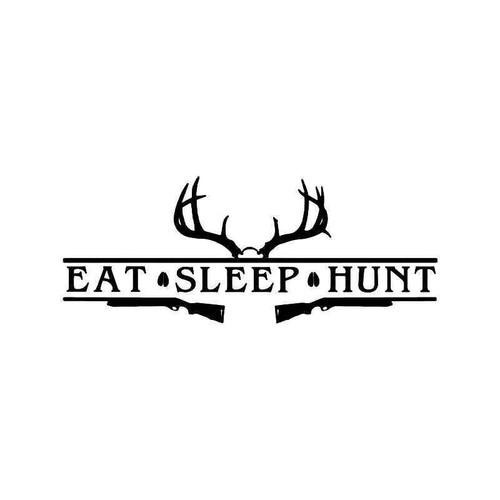 Eat Sleep Hunt Deer Buck Rifle Vinyl Sticker