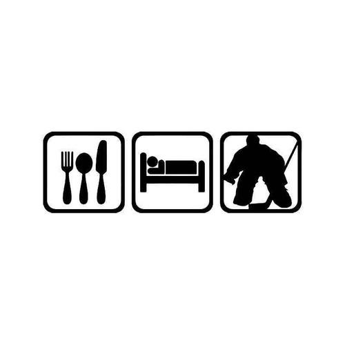Eat Sleep Ice Hockey Goalie Vinyl Sticker
